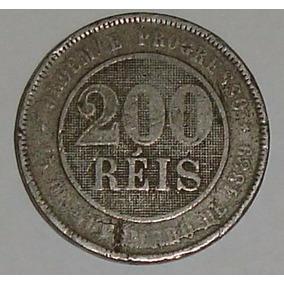 Moeda Rara 200 Réis 1898