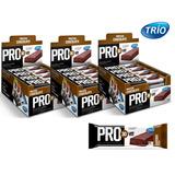 Kit 3 Cx Pro 30 Vit Bar Protein Trio - Chocolate