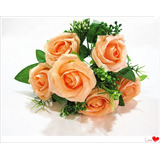 Rosas Artificiales En Vara 30cm