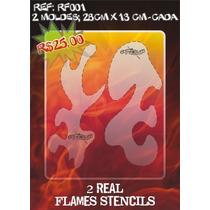 Molde Vazado True Fire Aerografia E Pinturas Rf001