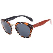 Prada Pr 04ts - Óculos De Sol Van 9k1 Laranja Mesclado E