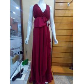Vestido Longo Vermelho Tamanho 54