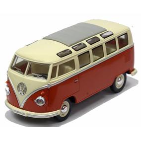 Miniatura Volkswagen Kombi Clássica 1962 Vermelha 1/24