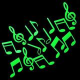 Notas Musicales Fluorescente Glow Decoracion Niños Bebe