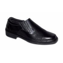 Sapato Sanfonado Couro Preto 027