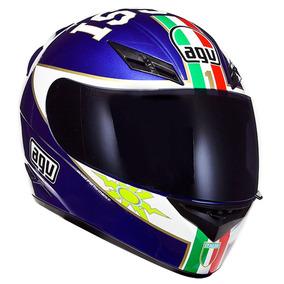 Capacete Agv K-3 Mugello 03 - Azul Fechado Valentino Rossi