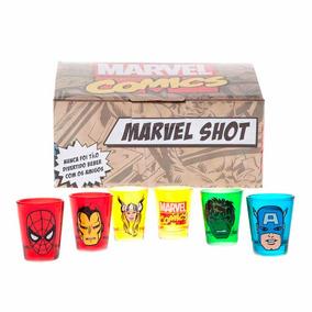 Copos Shot Marvel Avengers Vingadores Hulk Ferro Aranha Thor