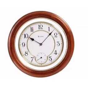 Bulova Reloj De Pared Clásico Madera Natural