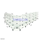 Balcão Vitrine Em Vidro Modulado L 1,00x1,50x2,50 Fabriloja