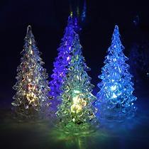 Mini Árbol Con Luz Led Rgb Recuerdo, Navidad, Adorno
