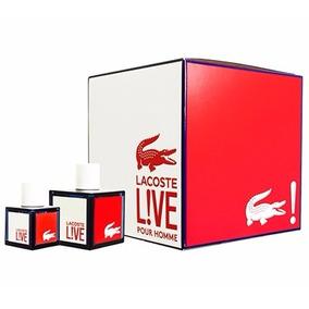 Estuche Perfume 2 Pz Lacoste Live Otro Perry Ellis Hugo Boss
