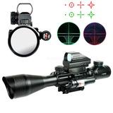 Mira Tactical 4-12x50 & Holográfica 4 Retícula Vista & Láser