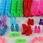 Kit 9 Sapatinhos Saltos Botas Sandálias Para Boneca Barbie
