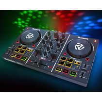 Controlador Numark Party Mix Placa, Luz Led Y Virtual Dj