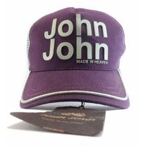 Boné John John Feminino Original, Bone Onça E Vermelho