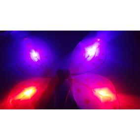Alas De Mariposa Con Luz A Led - Disfraz Cotillon Luminoso