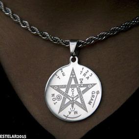Somente Pingente Tetragramaton Pentagrama Salomão Aço