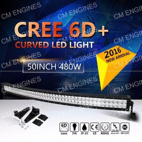 Barras Led Cree 6d Plus 130cm 480w 57600 Lumens,curvas