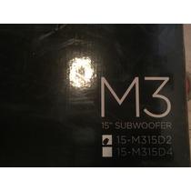 Bajo M3 Memphis 15 Pulgadas Nuevo Bobina Doble De 2 Ohms