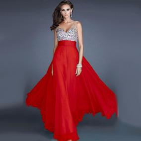 Vestidos de graduacion color rojo