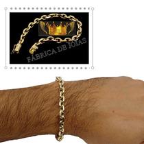 Pulseira Letra Unissex 13g Ouro 18kl 750
