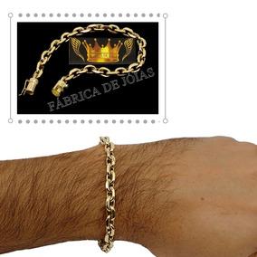Pulseira De Ouro Cadeado Unissex 13g 18kl 750
