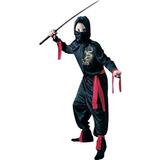Disfraz Para Niño Traje Ninja Niño Negro - Small (4-6)
