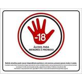 100 Placa Proibido A Venda De Bebidas Alcólicas Para Menores