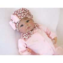 Saída Maternidade Oncinha Rosa Roupa De Bebê Enxoval De Bebê