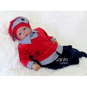 Saída Maternidade Menino Príncipe Vermelho Enxoval De Bebê