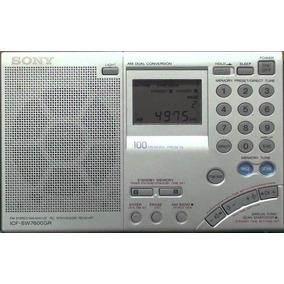 Manual Em Pdf Rádio Sony Icf-sw7600gr Português