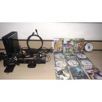 Xbox 360 Slim 250gb Lt 3.0+ Kinect + 53 Jogos + 3 Controles