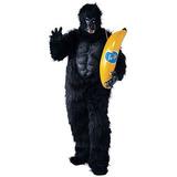 Disfraz Hombre Traje De La Mascota Del Traje De Gorila Co H