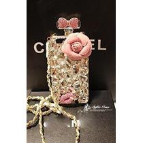 Estuche Iphone 7 Plus Botella Perfume Piedreria Lujoso
