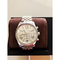 Relógio Michael Kors Quartz Prata Mk 5555 Original