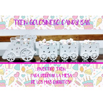 Tren Candy Bar 60 Cm De Largo Con 3 Vagones