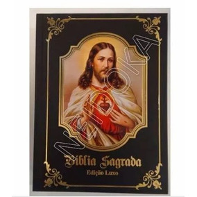 Bíblia Sagrada Católica Capa Preta Ou Branca - Ed. Luxuosa