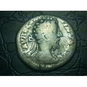Moeda Romana Denário Marcus Aurelius Prata 161-180 D.c #0179