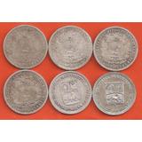 Coleccion De Monedas De 0,50, Realitos 6 Pz, De Plata