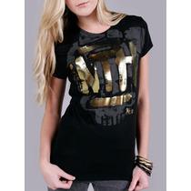 Blusa Wth Gold Dourada Abbey Dawn By Avril Lavigne Original