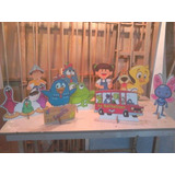 Decoração Galinha Pintadinha 10 Displays Mesa Festa Infantil
