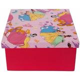 Caixa Porta-objetos Mdf Decoração Tecido Princesas Disney