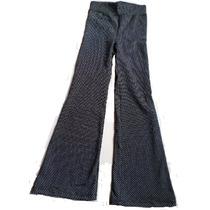 Pantalon Estampado Oxford Algodòn Con Lycra Negro Y Lunares