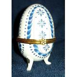 Joyero Tradición Fabergé, Porcelana, Huevo Ruso, 10cm.