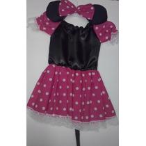 Disfraz De Ratona Simil Minnie Bebe Con Vincha Belgrano R