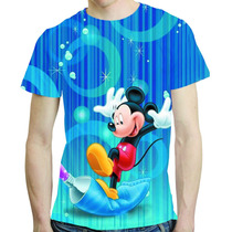 Camisa Desenho Animado Camiseta Mickey - Estampa Total Mod 2