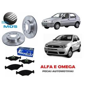 Kit Disco+pastilha Freio Palio Fire 2001 2002 2003 2004 2005
