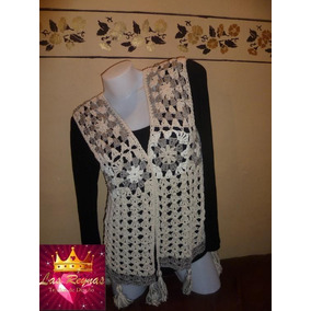 Chaleco De Hilo Crochet-reynas Tejidos Artesanales