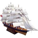 Barco A Vela Maquete De Papel 3d, Imprima, Corte E Cole