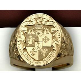 Anel Lord Imperador Ouro18k Brasão Personalizado Joia Art